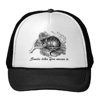 Gato de Cheshire - estamos todos enojados aquí Gorras De Camionero