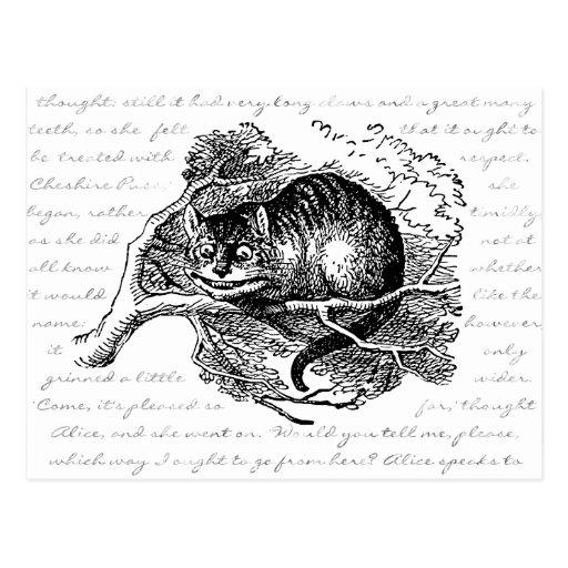 Gato de Cheshire - estamos todos enojados aquí Postales
