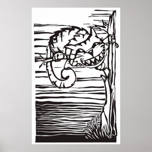 Gato de Cheshire Impresiones