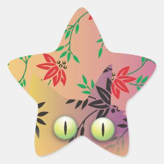 Gato de Cheshire Pegatina En Forma De Estrella