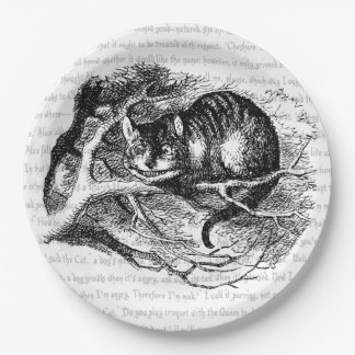 Gato de Cheshire Plato De Papel De 9 Pulgadas