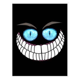 Gato de Cheshire - postal de los ojos azules