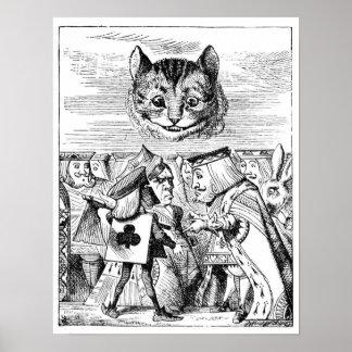 Gato de Cheshire sobre el país de las maravillas Poster
