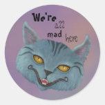 Gato de Cheshire somos todos aquí pegatina enojado