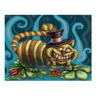 Gato de Cheshire Postales