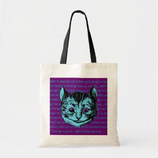 Gato de Cheshire - vintage Alicia en el país de la Bolsas De Mano