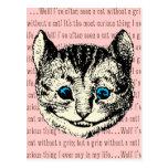 Gato de Cheshire - vintage Alicia en el país de Postales