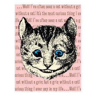 Gato de Cheshire - vintage Alicia en el país de Postal