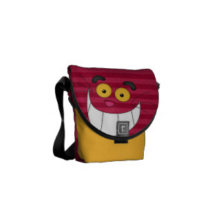 Gato de Cheshire y la bolsa de mensajero rosada de Bolsa De Mensajeria