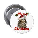 Gato de Coon de Maine de las Felices Navidad Pins