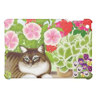 Gato de Coon de Maine en caso del iPad de la selva