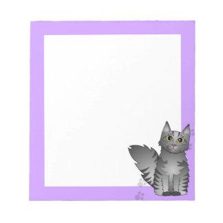 Gato de Coon de Maine - Tabby del gris de plata Bloc De Notas