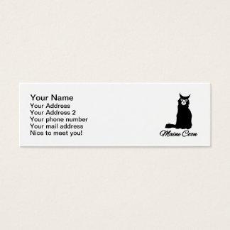 Gato de coon de Maine Tarjeta De Visita Pequeña