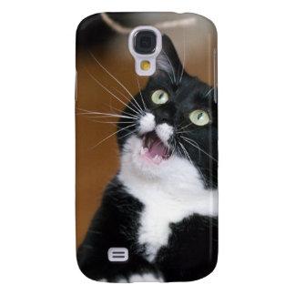 Gato de Derpy que hace una cara tonta Funda Para Galaxy S4