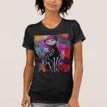 Gato de Dia de los Muertos Meow por Prisarts Camisetas