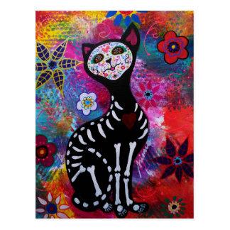 Gato de Dia de los Muertos Meow por Prisarts