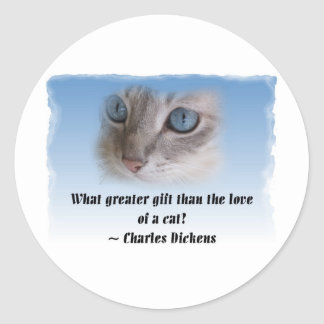 Gato de Dickens Etiqueta Redonda