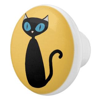 Gato de encargo de la MOD del color - botón del Pomo De Cerámica