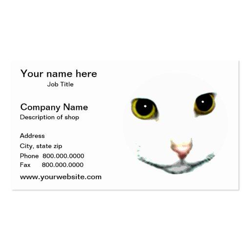 Gato de encargo plantillas de tarjetas de visita