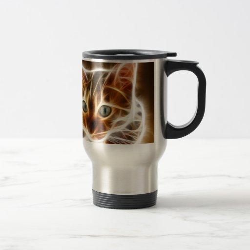 Gato de Fractalius Bengala Tazas De Café