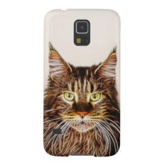 Gato de Fractalius Carcasas De Galaxy S5