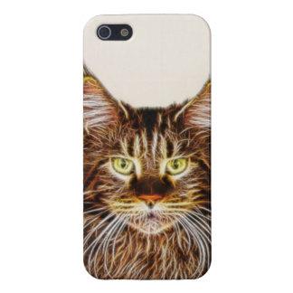 Gato de Fractalius iPhone 5 Carcasas