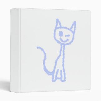 Gato de guiño lindo Azul