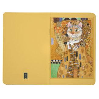 Gato de Gustavo Klimt en diario de la parodia del Cuaderno Grapado