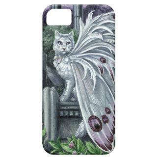 Gato de hadas blanco de la belladona funda para iPhone 5 barely there