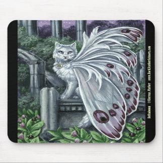 Gato de hadas blanco Mousepad de la belladona Tapete De Ratones