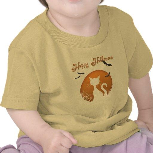 Gato de Halloween Camisetas