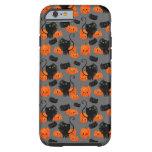 Gato de Halloween con el modelo de las calabazas Funda De iPhone 6 Tough