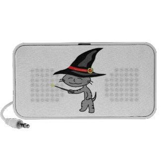 Gato de Halloween con el traje del mago iPhone Altavoces