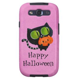 Gato de Halloween con la calabaza Samsung Galaxy S3 Coberturas