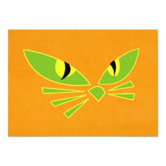"""Gato de Halloween Invitación 5"""" X 7"""""""