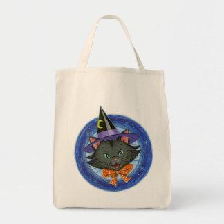 Gato de Halloween: La bolsa de asas del truco o de
