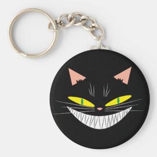Gato de Halloween Llavero Redondo Tipo Pin