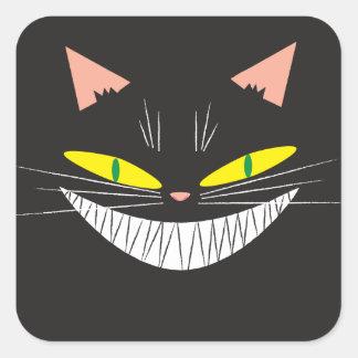Gato de Halloween Pegatina Cuadrada