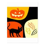 Gato de Halloween Postal