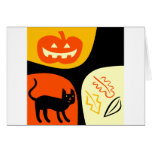 Gato de Halloween Tarjeta
