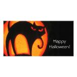 Gato de Halloween Tarjetas Personales Con Fotos