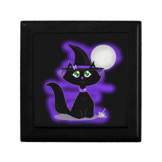 Gato de Halloween y ratón del juguete Caja De Joyas