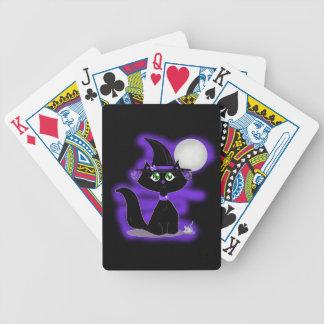 Gato de Halloween y ratón del juguete Baraja De Cartas