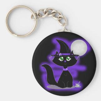 Gato de Halloween y ratón del juguete Llaveros