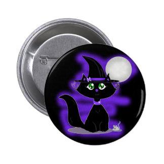 Gato de Halloween y ratón del juguete