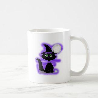 Gato de Halloween y ratón del juguete Tazas De Café