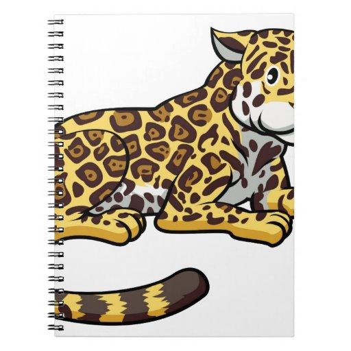 Gato de Jaguar del dibujo animado Cuaderno | Zazzle
