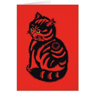 Gato de Katagami Tarjeta Pequeña