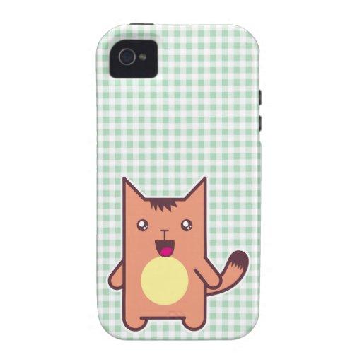 Gato de Kawaii Case-Mate iPhone 4 Fundas