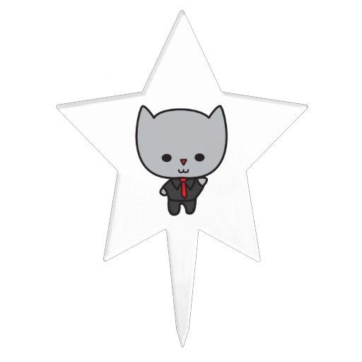 Gato de Kawaii con el lazo Decoraciones Para Tartas